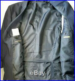 NM Nick's Mens Suit 52L 46W 3-Piece Navy Blue Business Work Career Italy Italian