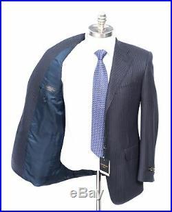 NWT CORNELIANI Master Dark Navy Striped Super 150's Wool Two-Piece Suit 56 46 S