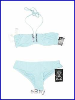 NWT La Perla Women Blue Two Piece Swimsuit 40 italian