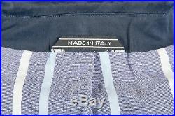 NWT Men's Navy Blue Blazer 42 R by BILLY REID Cotton 3/2 Roll Patch Pockets Ital