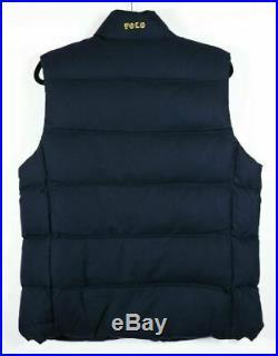 NWT Polo Ralph Lauren Men's Wool Down Vest Bullion Patch Crest Size L Large