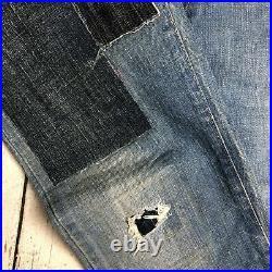 NWT- RA-RE Rag Recycle Italian Patch Boyfriend Jeans -Size 28