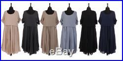 New Italian Ladies Lagenlook Quirky 2 Piece Maxi Dress With Crop Top Fits 16-18