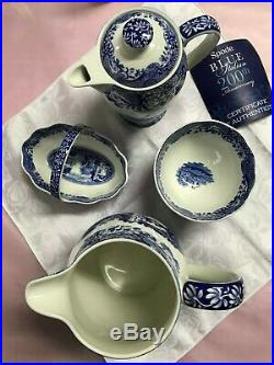 New Spode Blue Italian C. 1816. Certificate of Authenticity set of 7 pieces