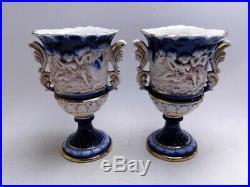 Norleans Italy Vintage Handmade 4 Pieces RARE Decor Set Cobalt Blue/Cream/Gold