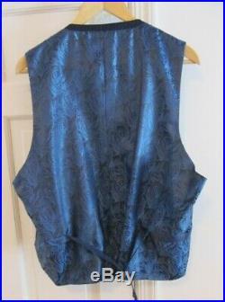 Nwt Reda Super 130's Italian Wool Navy Blue 3 Piece Pinstripe Suit Men's 48l