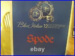 P Spode 12-Piece Dinnerware Set, Blue Italian made in England