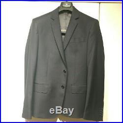 Pierre Balmain Gorgeous Italian Two Piece Suit Navy 38 Slim 100%wool
