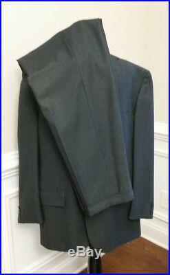 Polo Ralph Lauren Men's Navy Blue Wool Italian Italy 2 Piece Suit 42r & 36w