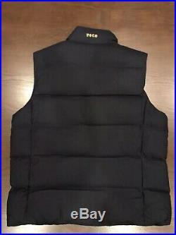 Polo Ralph Lauren Men's Wool Down Vest Jacket Bullion Patch Crest Size XL
