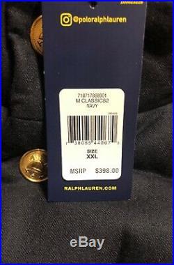 Polo Ralph Lauren NWT $398 Men's Wool Down Vest Jacket Bullion Patch Crest XXL