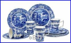 Portmeirion Spode 12-Piece Dinnerware Set, Blue Italian (1646858)