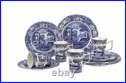Portmeirion Spode Blue Italian Pattern 12 Piece Dinner Set