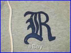 Ralph Lauren RUGBY Gothic Script R Patch Gray Hoodie Sweatshirt Men's L