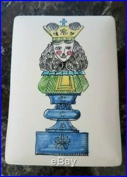 Raymor Italian Pottery Pop Art Chess Piece Box