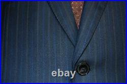 Recent Ermenegildo Zegna 15 Milmil 15 Navy Pinstripe Suit, 2 Piece, 40R
