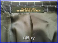 Reserve Collection Made in USA Italian FabricTailored Fit 3-Piece Suit, size42R