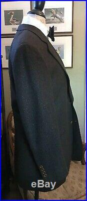SAMUELSOHN Men's 40R Birdseye Patch Pocket 120s Wool Black/Navy/Tan Sport Coat