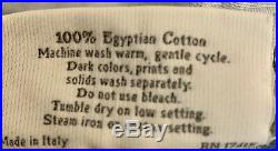 SFERRA Queen Italian Egyptian Cotton Blue Gray 4 Piece Sheet Set