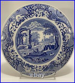 SPODE BLUE ITALIAN Cheese / Cake Plate & Serving Piece 11-3/8 ENGLAND 1816 A4