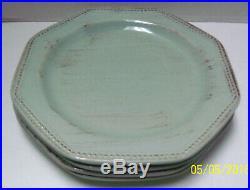 Sakura Italian Sage Stoneware 16 Piece Set DINNERWARE-Plates Bowls Cups Lt. Blue