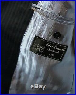 Silvio Bresciani Sartoriale (44R) Men's Blue 2 Btn 2 Piece Italian Suit 38x30
