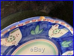 Solimene Vietri Italy Campagna Pottery Blue Chicken 23 PIECE SET! WOW