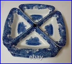 Spode BLUE ITALIAN 5 Piece Condiment Hors doeuvres Relish Tray