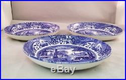 Spode BLUE ITALIAN 6 Piece Set Pasta Bowls & Plates