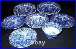 Spode BLUE ITALIAN DESIGN 15 Assorted Pieces Job Lot Blue Oval Mark