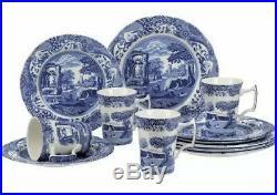 Spode Blue Italian 12 Piece Dinnerware Set (NEW IN BOX) 4 Place Settings