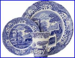 Spode Blue Italian 12 Piece Set (4 x 27cm Plate, 4 x 20cm Plate, 4 x Mug)