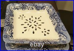 Spode Blue Italian 2 Piece Fruit Strainer 13,5×11,25