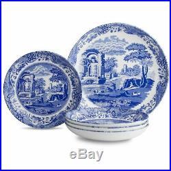 Spode Blue Italian 5 Piece Pasta Bowl Set