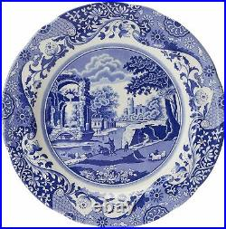 Spode Blue Italian Earthenware Dinnerware 12-piece Set Service for 4 NEW