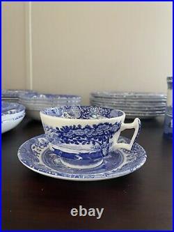 Spode Blue Italian Four 6-piece Place Settings + Extras