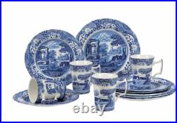 Spode Home Blue Indigo Earthenware Dinnerware 12-piece Set Service for 4 NEW