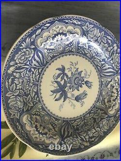 Spode collection unused was in display cabinet, 11 pieces blues, oven safe