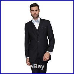Statement Men's Lorenzo Navy Italian Wool 3-piece Slim Fit