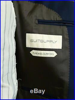 Suitsupply Lazio 3-Piece Navy Blue Suit 36s 130 Wool