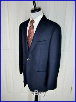 Suitsupply Navy Weave Dual Vent Havana Patch Hl Italian Wool Sport Coat 40 R