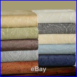 Superior Cotton Rich 600TC Italian Paisley Duvet Cover 3 Piece Set