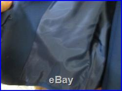 TALBOTS 2 Piece Suit jacket Pants ITALIAN Fabric lightweight Blue Size 10 NWT