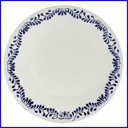 Tabletops Gallery Dinnerware Carmine Blue White Italian Coast 16-Piece Serves 4