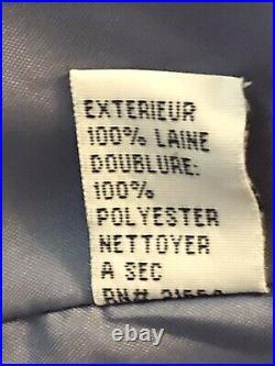 Talbots 2 Piece Women's Pant Suit Size 6 Petite 6P Slate Blue Italian Wool Blend
