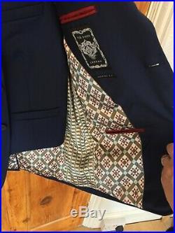 Ted Baker 3 pieces suit Navy Blue, Debonair Birdseye Wool Suit Fashion Fit