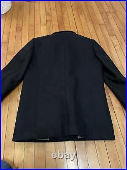 Ted Baker Men's Patch Pocket Collared Overcoat Dark Navy Size 3
