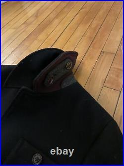 Ted Baker Men's Patch Pocket Collared Overcoat Dark Navy Size 3 warm jacket