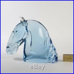 Thick huge UNIQUE horse head sculpture Nason MUSEUM piece Murano glass Cenedese