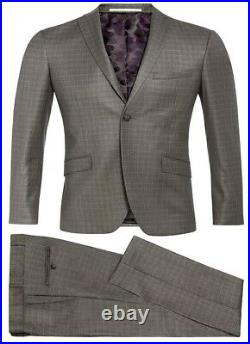 Three Piece Suit Mens designer suit Slim Fit Suit Grey Checked Wholesale Price